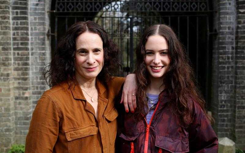 Jane Samuels and her daughter Ruby, who is currently revising for her GCSEs - Clara Molden/Clara Molden for The Telegraph