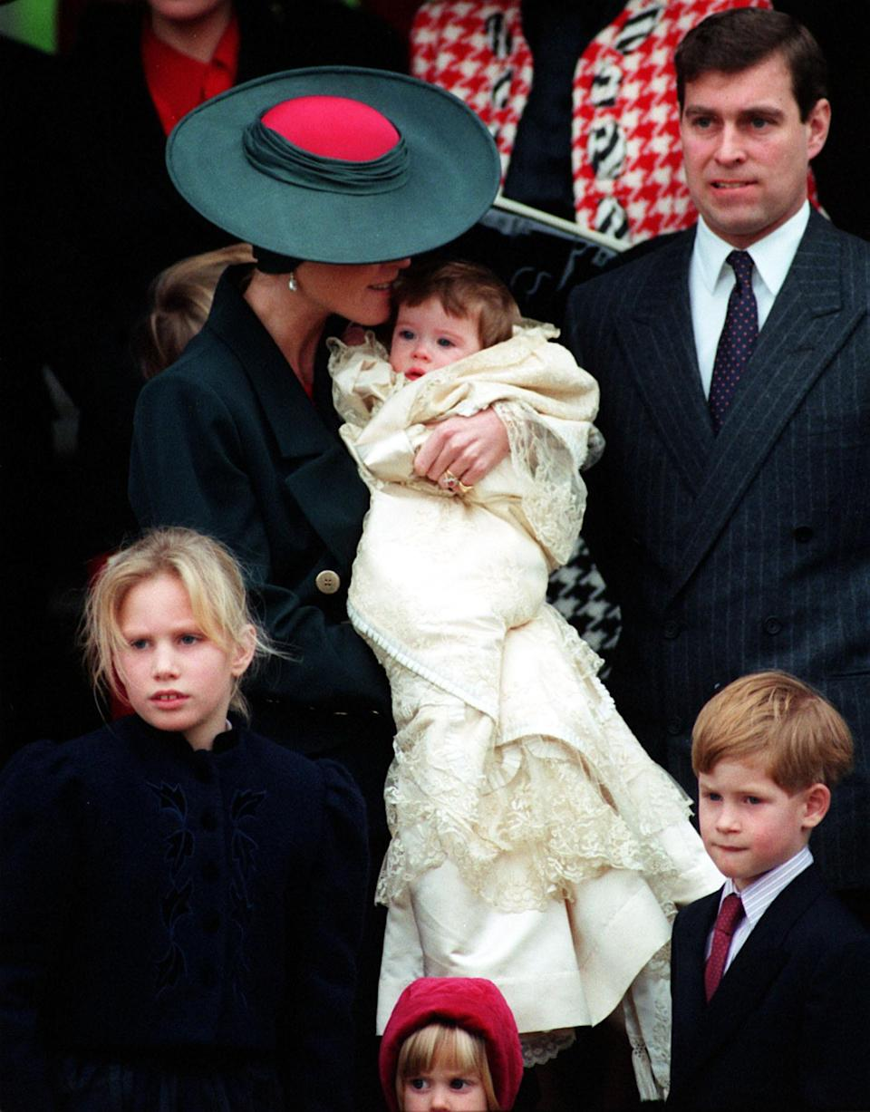 Princess Eugenie also wore the Honiton gown on 23 December 1990 [Photo: PA]