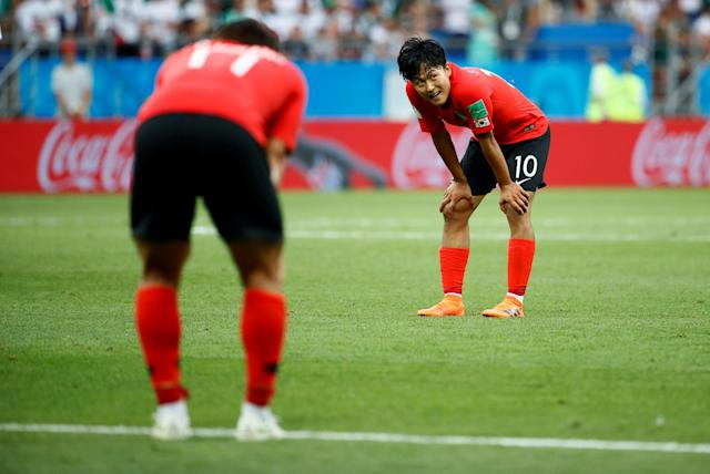 Soccer Football - World Cup - Group F - South Korea vs Mexico - Rostov Arena, Rostov-on-Don, Russia - June 23, 2018 South Korea's Lee Seung-woo during the match REUTERS/Jason Cairnduff TPX IMAGES OF THE DAY