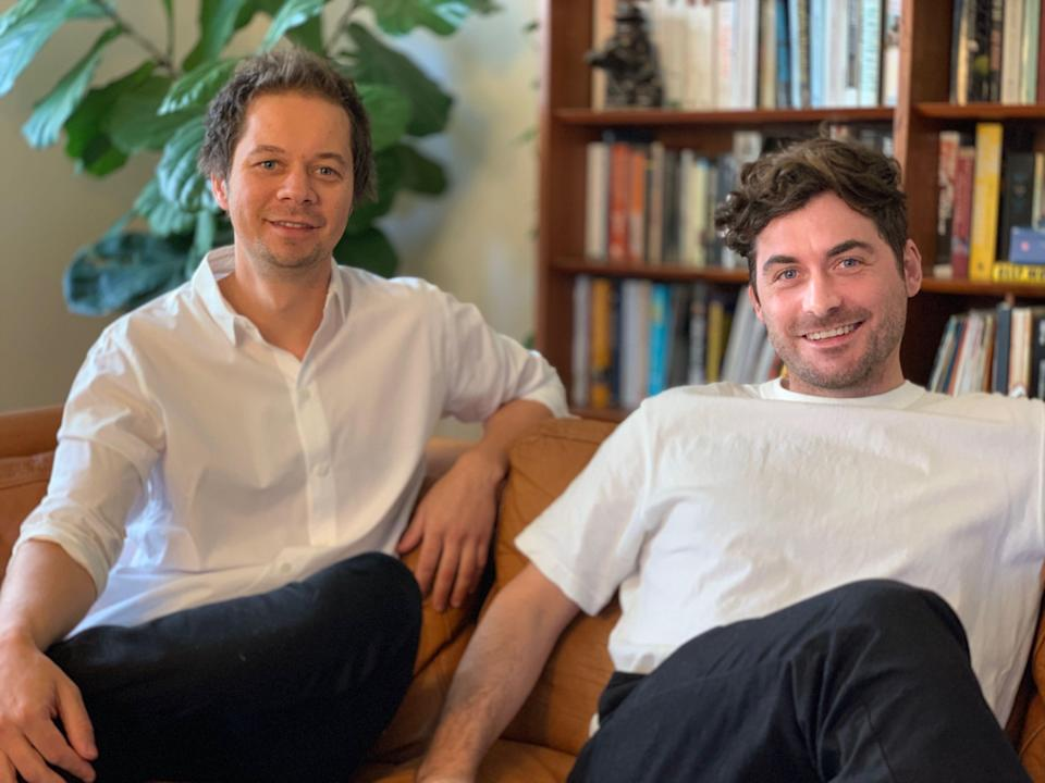 A photo of Dovetail co-founders Ash Fogelberg and Nick Frandsen