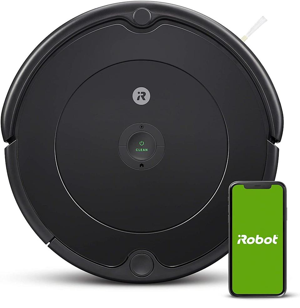 """<p><strong>iRobot</strong></p><p>amazon.com</p><p><strong>$199.99</strong></p><p><a href=""""https://www.amazon.com/iRobot-Vacuum-Wi-Fi-Connectivity-Self-Charging-Charcoal/dp/B085D4MFS8?tag=syn-yahoo-20&ascsubtag=%5Bartid%7C10054.g.36716381%5Bsrc%7Cyahoo-us"""" rel=""""nofollow noopener"""" target=""""_blank"""" data-ylk=""""slk:Buy"""" class=""""link rapid-noclick-resp"""">Buy</a></p><p><strong>Save 33% with Prime</strong></p><p>Get someone—or something—else to do the dirty work.</p>"""