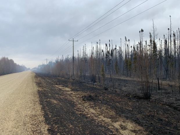 The fire had covered at least 1,000 hectares of land as of Friday, leaving charred trees in its wake.