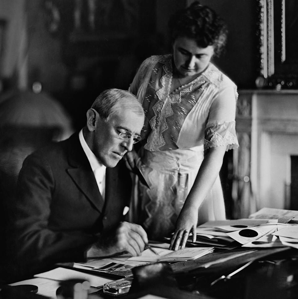 Woodrow Wilson and his second wife, Edith, circa the mid 1910s.