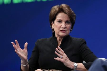 Marillyn Hewson, Chairman, President and CEO, Lockheed Martin Corporation, speaks at the 2019 Milken Institute Global Conference in Beverly Hills
