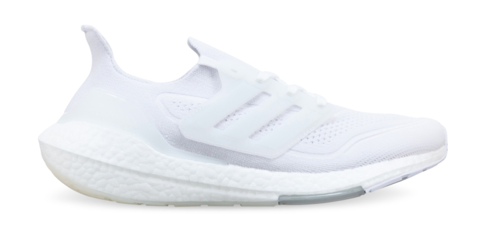 white Adidas Ultraboost performance sneakers