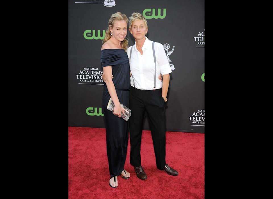 We love how happy and in love Portia and Ellen always look. Not to mention how well they coordinate their outfits.