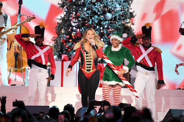 Mariah Carey during her All I Want For Christmas Is You tour at Madison Square Garden on December 15, 2019 in New York City. (Credit: Getty Images)