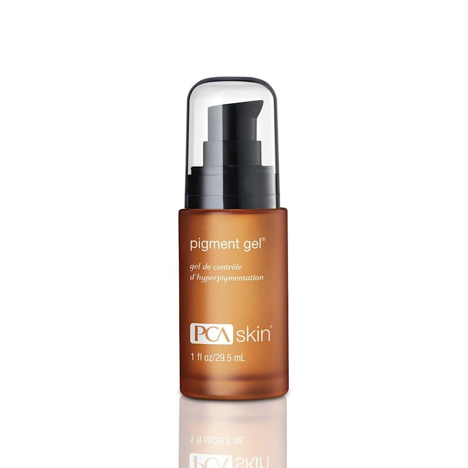 """<p>""""I often recommend PCA Skin Pigment Gel to patients looking to treat scars left behind from acne,"""" explains Rebecca Kazin, a board-certified dermatologist at Washington Institute of Dermatologic Laser Surgery and Johns Hopkins department of dermatology. """"This gel contains 2 percent <a href=""""https://www.allure.com/story/skin-care-terms-glossary-definitions?mbid=synd_yahoo_rss"""" rel=""""nofollow noopener"""" target=""""_blank"""" data-ylk=""""slk:hydroquinone"""" class=""""link rapid-noclick-resp"""">hydroquinone</a> blended with other skin brighteners, like kojic acid, resorcinol, and azelaic acid, which work to lighten the pigmentation without irritating the skin."""" The addition of lactic acid maintains moisture to prevent overdrying, which can worsen pigmentation.</p> <p><strong>$64</strong> (<a href=""""https://shop-links.co/1624720637150411414"""" rel=""""nofollow noopener"""" target=""""_blank"""" data-ylk=""""slk:Shop Now"""" class=""""link rapid-noclick-resp"""">Shop Now</a>)</p>"""