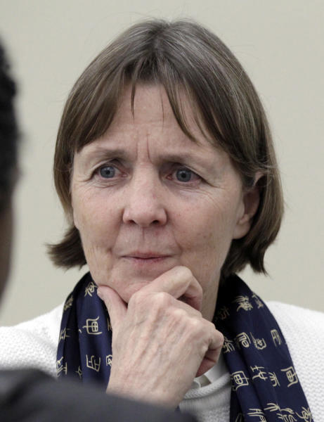 "FILE - This Friday, April 26, 2013 file photo shows Judy Clarke, a defense lawyer whose high-profile clients include ""Unabomber"" Ted Kaczynski, Olympic bomber Eric Rudolph, and Tucson shooter Jared Lee Loughner, listening during an event in Los Angeles. Clarke is joining the team representing the suspect in the Boston Marathon bombings. The appointment of Clarke, based in San Diego, Calif., was approved Monday by U.S. Magistrate Judge Marianne Bowler. (AP Photo/Reed Saxon, File)"