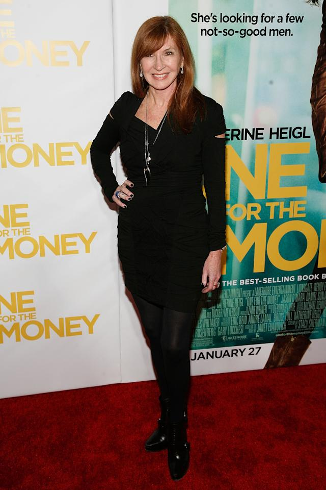 """NEW YORK, NY - JANUARY 24:  Nicole Miller attends the """"One for the Money"""" premiere at the AMC Loews Lincoln Square on January 24, 2012 in New York City.  (Photo by Andy Kropa/Getty Images)"""