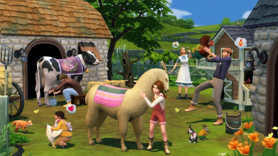 You can now raise farm animals in the new Sims expansion pack.