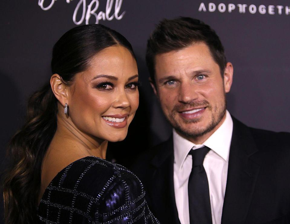 """<p>Nick and Vanessa Lachey were first romantically connected when she starred in his music video for '<a href=""""https://www.youtube.com/watch?v=899a8WlVpNk"""" rel=""""nofollow noopener"""" target=""""_blank"""" data-ylk=""""slk:What's Left Of Me"""" class=""""link rapid-noclick-resp"""">What's Left Of Me</a>' in 2006, though they weren't confirmed as a couple until months later. They broke things off in June 2009, but remained very close. 'We're trying to figure things out,' <a href=""""https://www.usmagazine.com/celebrity-news/pictures/nick-vanessa-lachey-relationship-timeline/august-2009-2/"""" rel=""""nofollow noopener"""" target=""""_blank"""" data-ylk=""""slk:Nick told Us Weekly at the time"""" class=""""link rapid-noclick-resp"""">Nick told Us Weekly at the time</a>. 'I don't pretend to know what the future holds, but everything's good. Vanessa's a good girl, and I care about her a lot.' By October, the couple was back together. They got engaged in 2010 and <a href=""""https://www.usmagazine.com/celebrity-news/news/nick-lachey-vanessa-minnillo-get-married-2011157/"""" rel=""""nofollow noopener"""" target=""""_blank"""" data-ylk=""""slk:married that following year"""" class=""""link rapid-noclick-resp"""">married that following year</a>.</p>"""