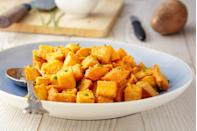"""<p>Sweet potatoes are a more nutritious alternative to the typical russet potatoes and add a touch of sweetness to any meal. Bring this potato salad to life by adding chopped scallions, smoked paprika, mayonnaise and vinegar. Make this <a href=""""https://www.thedailymeal.com/cook/best-salads-without-lettuce-slideshow?referrer=yahoo&category=beauty_food&include_utm=1&utm_medium=referral&utm_source=yahoo&utm_campaign=feed"""" rel=""""nofollow noopener"""" target=""""_blank"""" data-ylk=""""slk:whenever you're tired of lettuce-based salads"""" class=""""link rapid-noclick-resp"""">whenever you're tired of lettuce-based salads</a>.</p> <p><a href=""""https://www.thedailymeal.com/recipes/bbq-chicken-wings-smoky-sweet-potato-salad-and-coleslaw-recipe?referrer=yahoo&category=beauty_food&include_utm=1&utm_medium=referral&utm_source=yahoo&utm_campaign=feed"""" rel=""""nofollow noopener"""" target=""""_blank"""" data-ylk=""""slk:For the Smoky Sweet Potato Salad recipe, click here."""" class=""""link rapid-noclick-resp"""">For the Smoky Sweet Potato Salad recipe, click here.</a></p>"""
