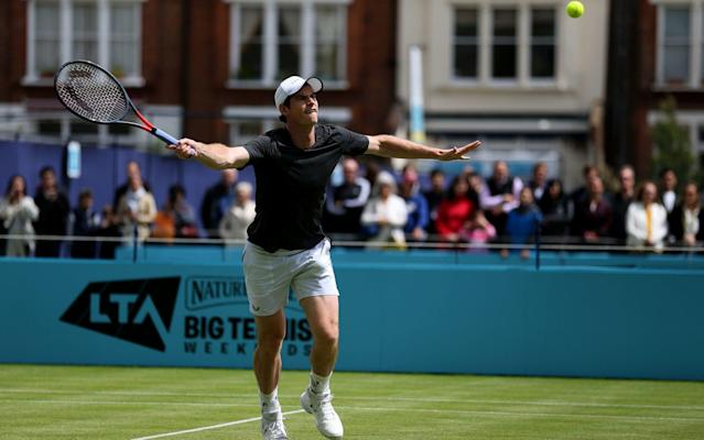 Andy Murray practicing at Queen's - PA