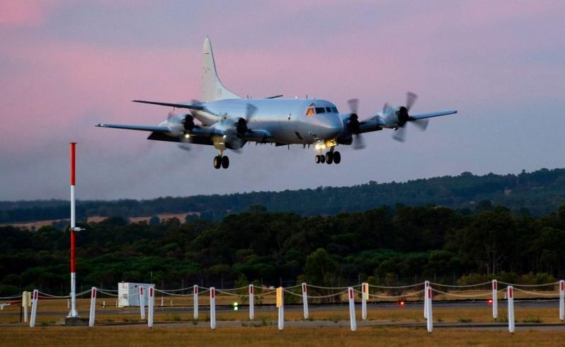 an ap-3c orion takes off to join the search for malaysia airlines flight mh370 . picture: adf
