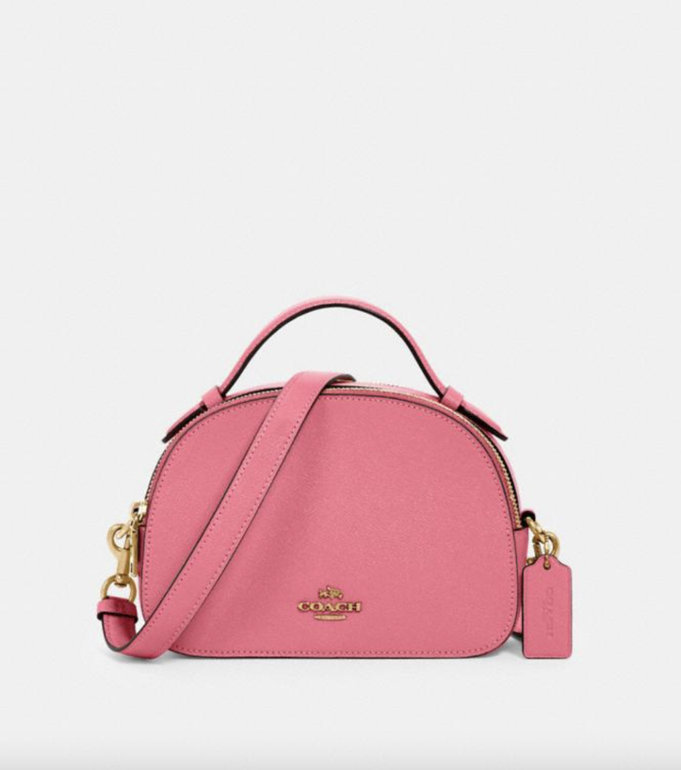 Serena Satchel in Confetti Pink (Photo via Coach Outlet)