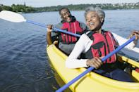 <p>Make the most of the last gasp of nice weather by taking a tandem kayak or a canoe out on the water. You'll learn cooperation in a whole new way and get some exercise, to boot. </p>