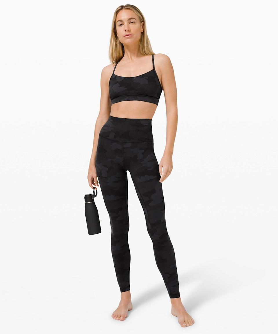 <p>Yoga or a strength training session calls for this functional <span>Lululemon Flow Y Bra Nulu</span> ($48) and <span>Invigorate High-Rise Tight</span> ($128).</p>