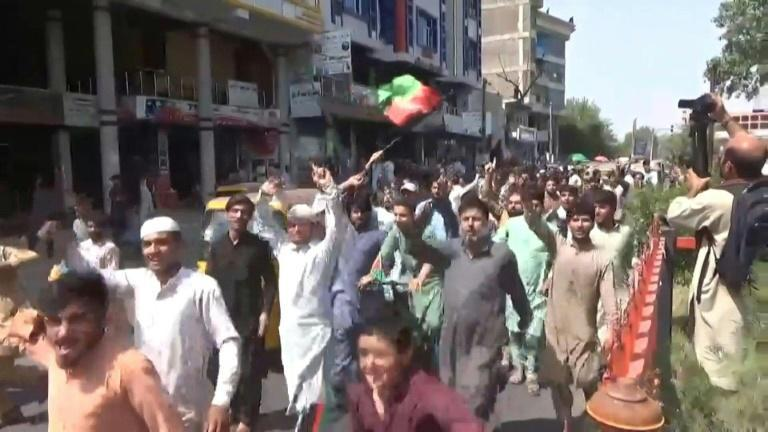 Gunshots heard in Jalalabad as Afghans protest with national flag