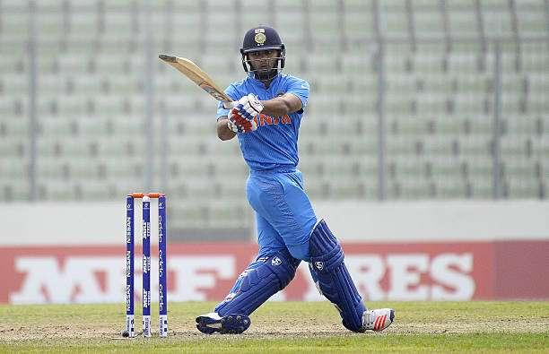 DHAKA, BANGLADESH - FEBRUARY 09: Rishabh Pant of India bats during the ICC U19 World Cup Semi-Final match between India and Sri Lanka on February 9, 2016 in Dhaka, Bangladesh. (Photo by Pal Pillai/Getty Images for Nissan)