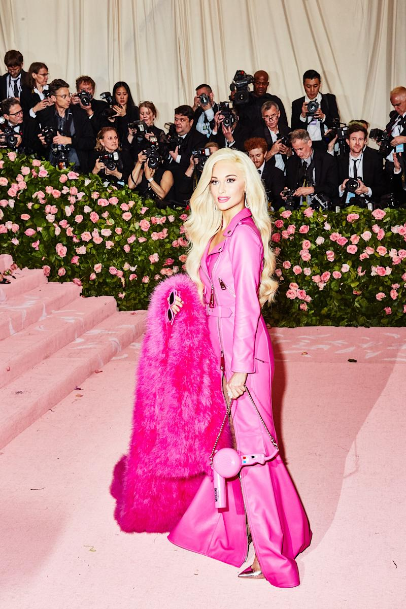 Kacey Musgraves on the red carpet at the Met Gala in New York City on Monday, May 6th, 2019. Photograph by Amy Lombard for W Magazine.