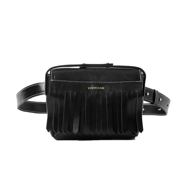 """<p>Vavvoune Dais Belt Bag, $210 (from $305), <a href=""""https://www.vavvoune.com/shop/dais-belt-bag-black-10"""" rel=""""nofollow noopener"""" target=""""_blank"""" data-ylk=""""slk:available here"""" class=""""link rapid-noclick-resp"""">available here</a>. </p>"""