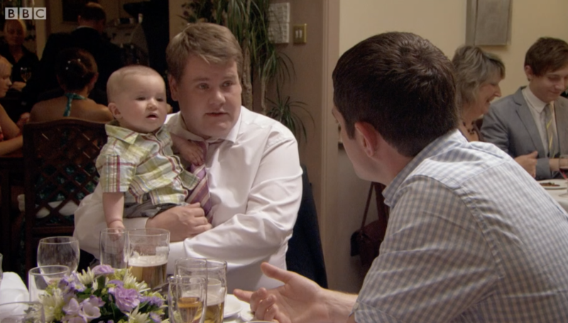Baby Neil was played by two baby actors in the third series. (BBC)