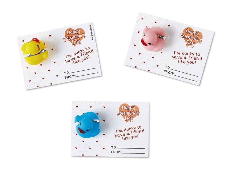 Bee Happy Valentines Day Toy And Gift Card Set Rubber Duck