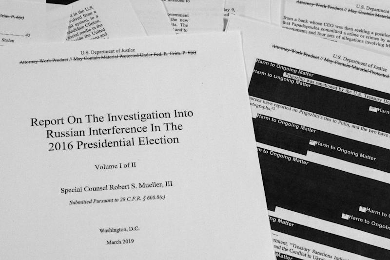 Special Counsel Robert Mueller's redacted report as released on Thursday