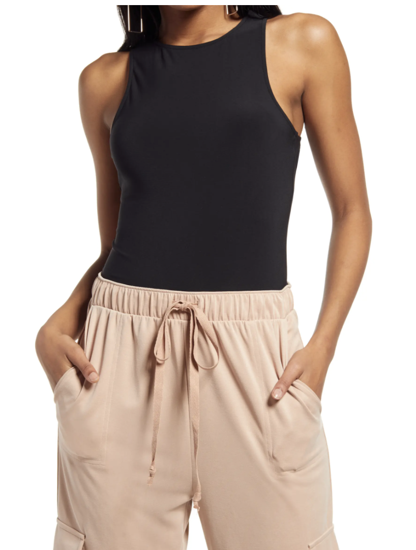 """<p><strong>OPEN EDIT</strong></p><p>nordstrom.com</p><p><strong>$15.60</strong></p><p><a href=""""https://go.redirectingat.com?id=74968X1596630&url=https%3A%2F%2Fwww.nordstrom.com%2Fs%2Fopen-edit-high-crewneck-cutout-bodysuit%2F6429433&sref=https%3A%2F%2Fwww.womenshealthmag.com%2Flife%2Fg36999215%2Fviral-tiktok-items-nordstrom-sale%2F"""" rel=""""nofollow noopener"""" target=""""_blank"""" data-ylk=""""slk:Shop Now"""" class=""""link rapid-noclick-resp"""">Shop Now</a></p><p>Bodysuits aren't new to the fashion game, but this high-neck black one is all about versatility. It features a sexy back cutout, high neck, and comfy thong making it one of those items you'll want to snag several of (especially now that it's on sale!). TikTok fashion influencers can wear it for anything from garden photoshoots to a workout and happy hour in between. </p>"""