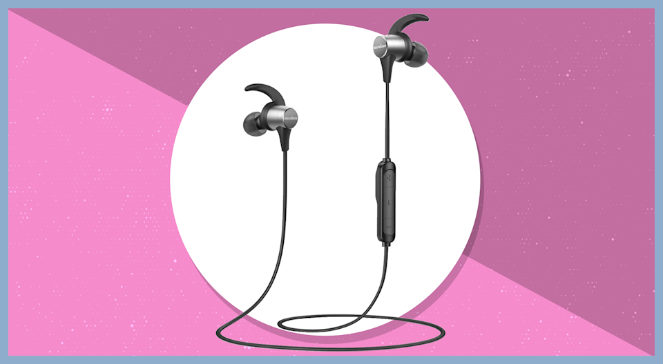 Save 59 percent on these sleek in-ear headphones from Anker. (Photo: Amazon)