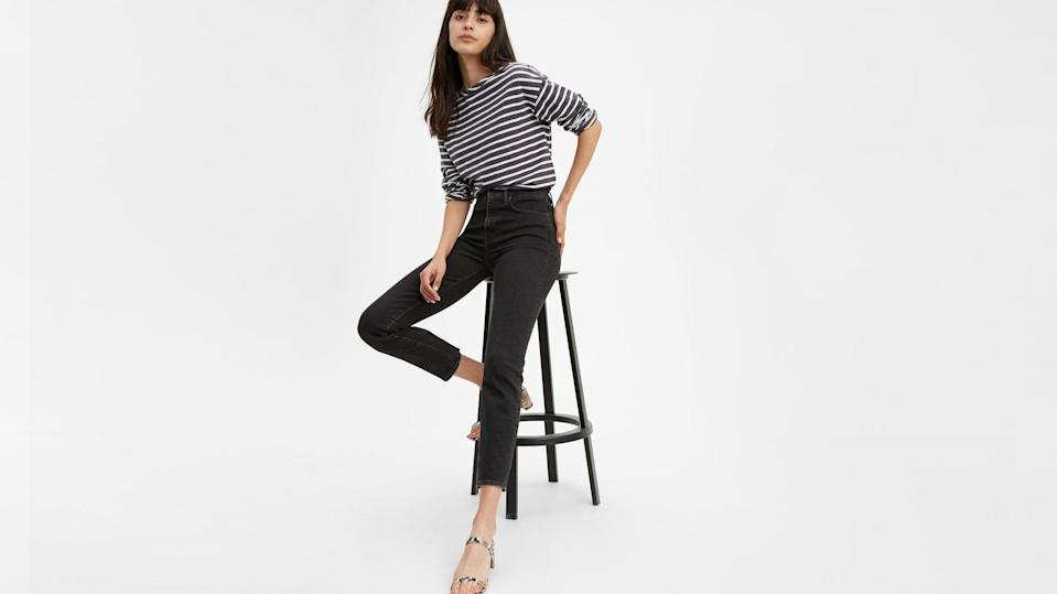 "<p>Show off in the <a href=""https://www.popsugar.com/buy/Levi-724-High-Rise-Straight-Crop-Jeans-585708?p_name=%20Levi%27s%20724%20High%20Rise%20Straight%20Crop%20Jeans&retailer=levi.com&pid=585708&price=98&evar1=fab%3Aus&evar9=45615413&evar98=https%3A%2F%2Fwww.popsugar.com%2Ffashion%2Fphoto-gallery%2F45615413%2Fimage%2F47583291%2FLevi-724-High-Rise-Straight-Crop-Jeans&list1=shopping%2Cdenim%2Cwinter%2Cwinter%20fashion&prop13=mobile&pdata=1"" class=""link rapid-noclick-resp"" rel=""nofollow noopener"" target=""_blank"" data-ylk=""slk:Levi's 724 High Rise Straight Crop Jeans""> Levi's 724 High Rise Straight Crop Jeans</a> ($98).</p>"