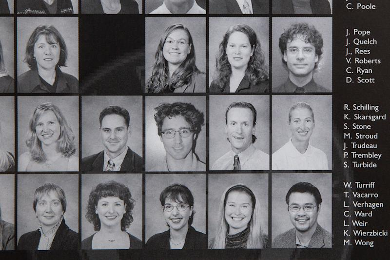 The yearbook shows Trudeau among the staff at West Point Grey, a private day school. He downplayed his experience there during his campaign in 2015. | TIME