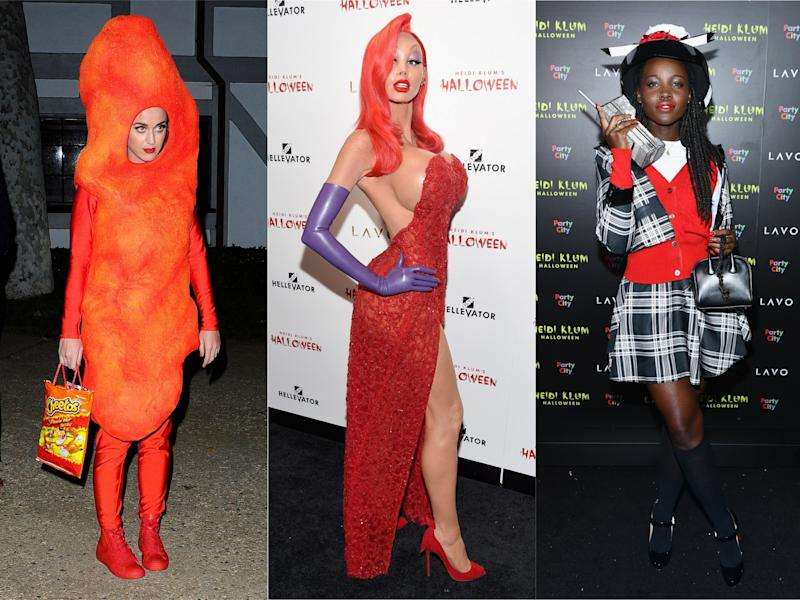 Katy Perry, Heidi Klum and Lupita Nyong'o: Rex Features/Getty Images