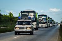 In Cuba, some 10,000 foreign tourists were evacuated from beach resorts