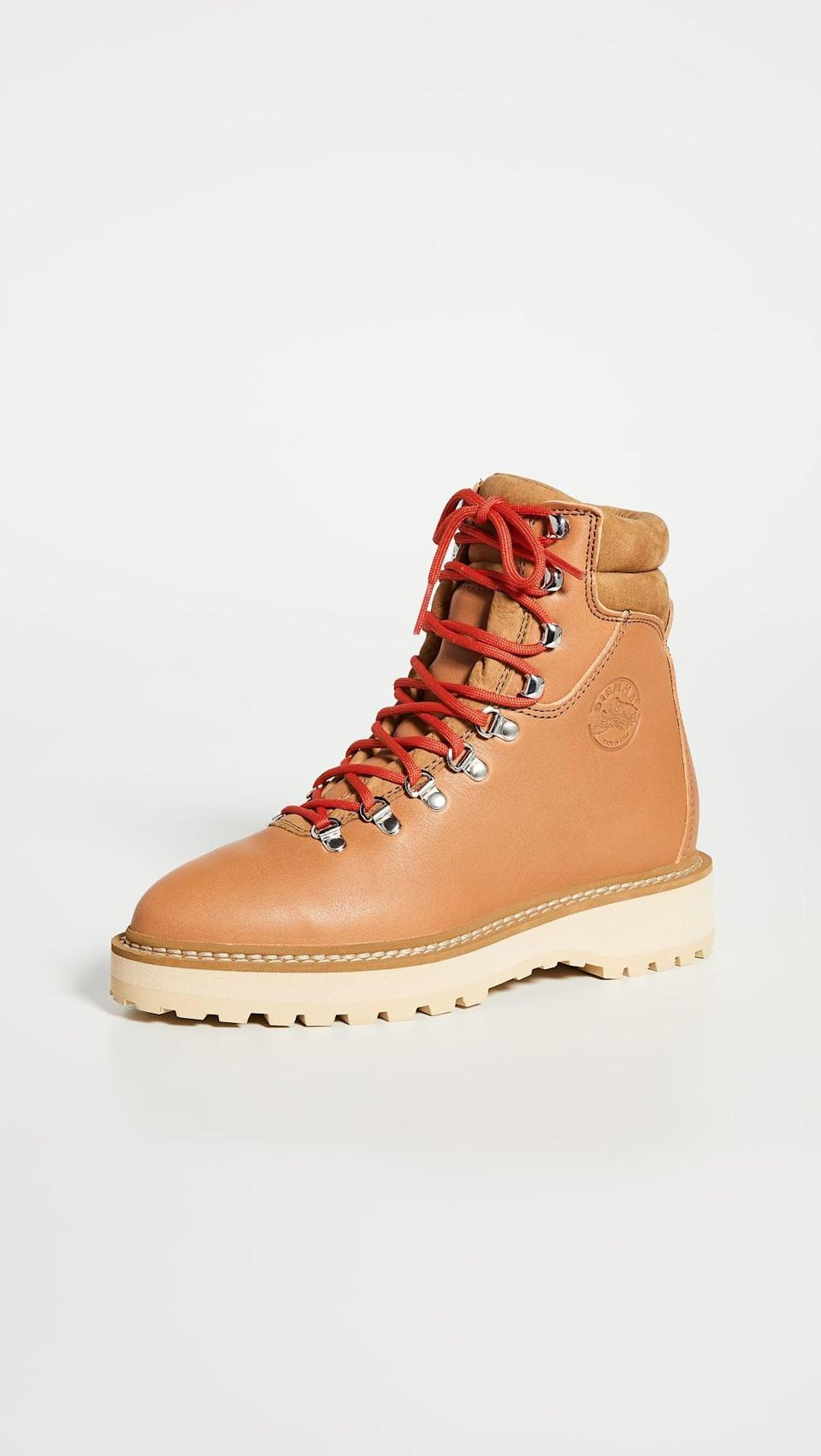 <p>We love the look of these <span>Diemme Monfumo Lace Up Boots</span> ($321, originally $459). They're tough, but the red laces add a little something extra, and we like the pop of color.</p>