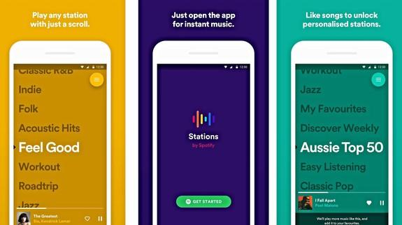 Spotify launches standalone app 'Stations' for free playlist listening