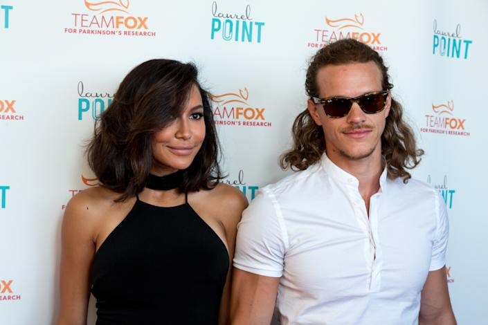 STUDIO CITY, CA - JULY 27:  Actors Naya Rivera (L) and Ryan Dorsey (R) arrive at the Raising The Bar To End Parkinson's at Laurel Point on July 27, 2016 in Studio City, California.  (Photo by Greg Doherty/Getty Images)
