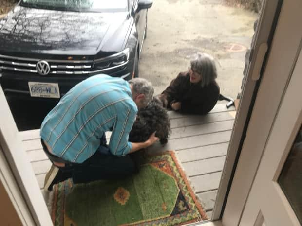 Tim and Yvonne Everson were overjoyed to be reunited with their Cairn terrier, Callie.