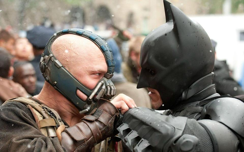 Tom Hardy and Christian Bale in The Dark Knight Rises - rex