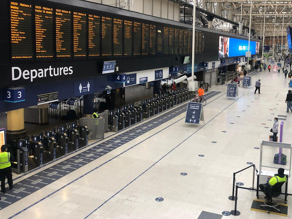 Rail life: Waterloo station in London, normally the busiest transport terminal in Europe  (Simon Calder)