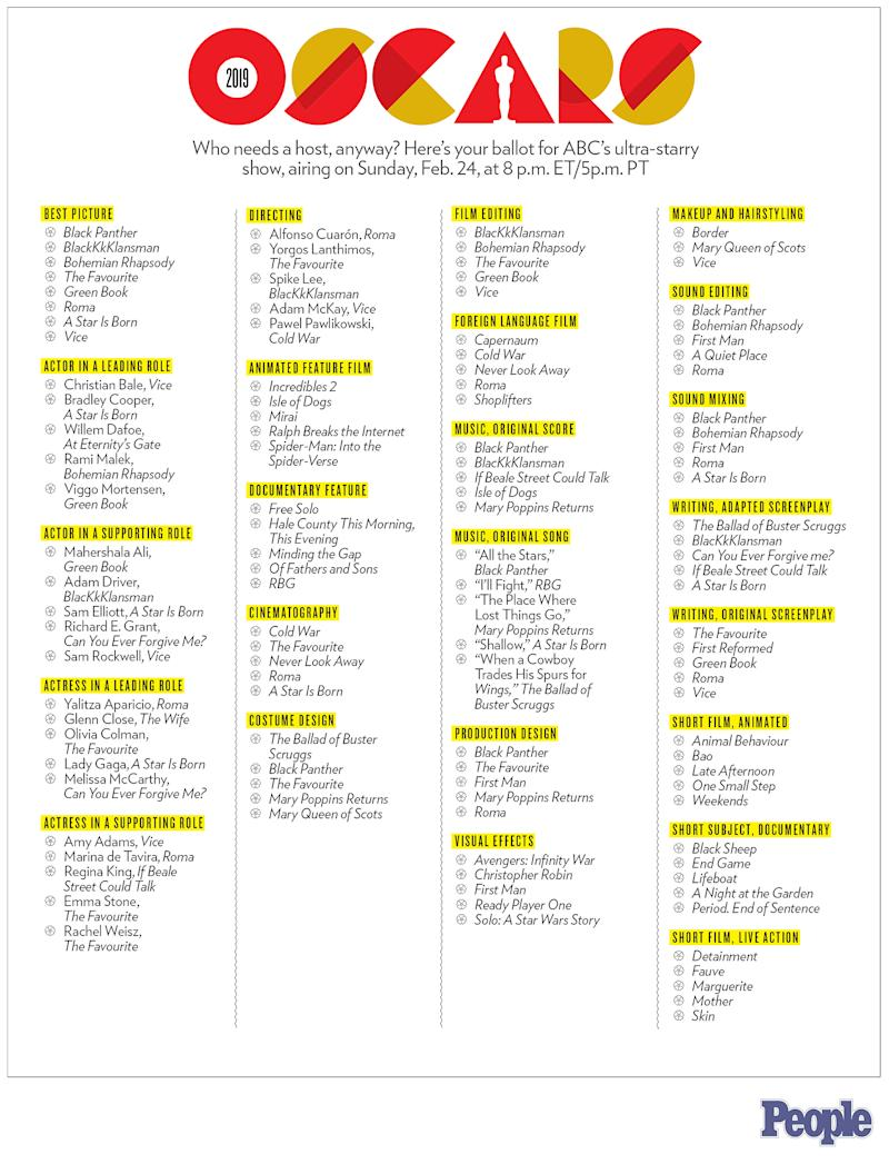 People S Oscars Ballot Is Here Download Your Copy In Time For