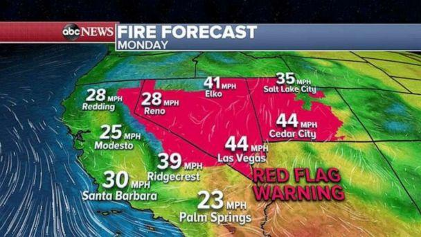 PHOTO: Most of Nevada is under a Red Flag Warning for today. (ABC News)