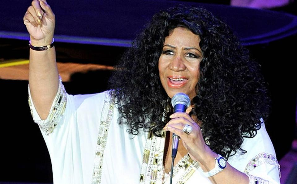 The Queen of Soul Aretha Franklin performed to a SRO audience at the Ryman Auditorium on Oct. 19, 2011 in Nashville, Tennessee.