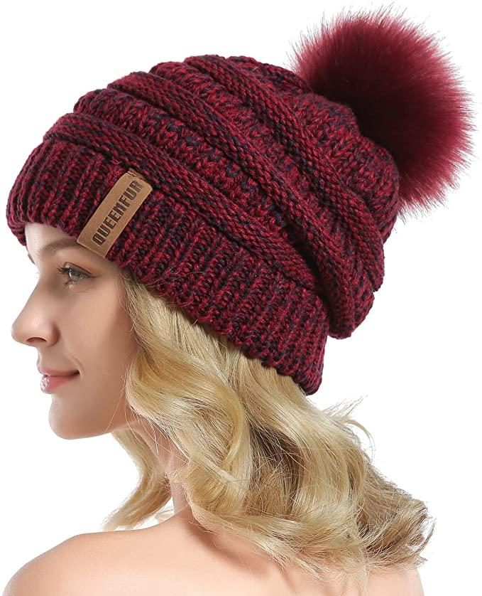This Queenfur Knit Slouchy Beanie hat comes in 44 different colours. (Image via Amazon)