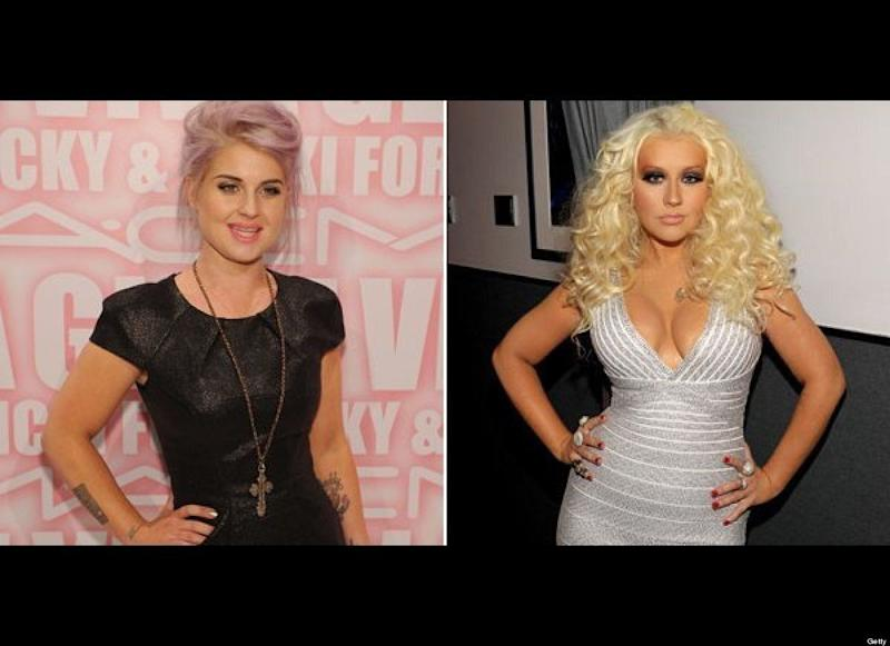 "These ladies need to learn to keep their comments to themselves. Back in the day, Christina Aguilera apparently used to call Kelly Osbourne fat, and now that Kelly has slimmed down and Christina has gained a few pounds the tables have turned. Osbourne made sure to call attention to the singer's weight gain, not once, but twice in 2011. ""Maybe she is just becoming the fat bitch she was born to be. I don't know. She was a c**t to me. And she bought my house,"" Osbourne said <a href=""http://www.huffingtonpost.com/2011/08/04/kelly-osbourne-calls-christina-aguilera-a-fat-bitch_n_918063.html"" target=""_hplink"">during an episode of ""Fashion Police"" that aired in August.</a> ""She called me fat for so many f***ing years, so you know what? F**k you! You're fat too."" Then in October, the <a href=""http://www.huffingtonpost.com/2011/10/17/kelly-osbourne-i-was-never-as-fat-as-christina-aguilera_n_1015490.html"" target=""_hplink"">singer was again the topic of discussion on the show: </a> ""Lady Marmalade got into the peanut better again,"" quipped co-host Joan Rivers when criticizing Aguilera's too-tight outfit. ""She called me fat for years, I was never that fat,"" Osbourne said and later added, ""Trust me, I'm a 2/4. That is not a 2/4."""