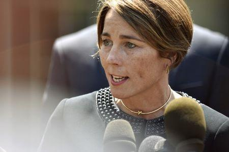 FILE PHOTO - Massachusetts Attorney General Maura Healey speaks about gun violence prevention at the White House in Washington, U.S., May 24, 2016. REUTERS/James Lawler Duggan/File Photo