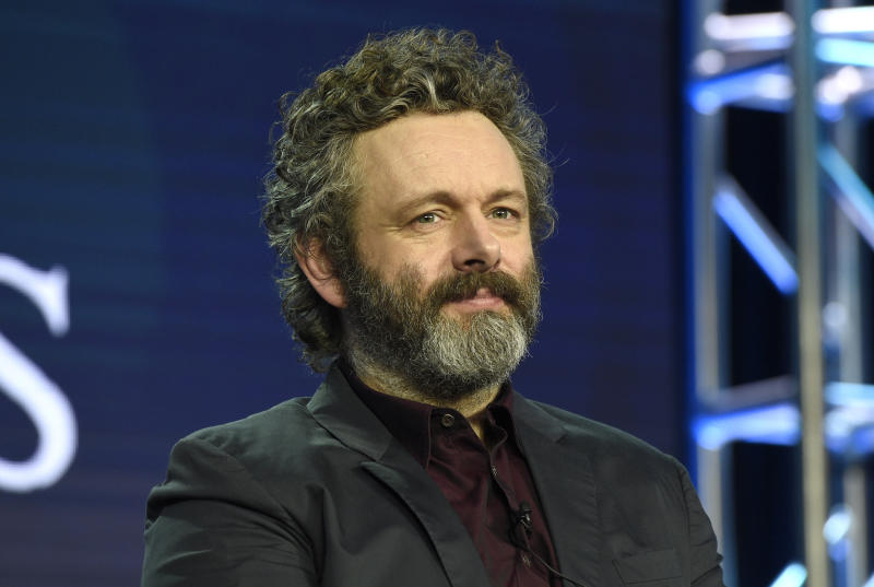 "Michael Sheen participates in the Amazon Prime Video ""Good Omens"" panel at the Winter Television Critics Association Press Tour on Wednesday, Feb. 13, 2019, in Pasadena, Calif. (Photo by Chris Pizzello/Invasion/AP)"