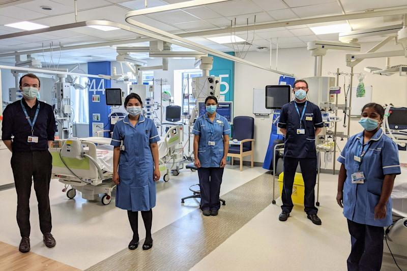 In addition to receiving standard care at Manchester Royal Infirmary, Farhan Hamid has received a dose of otilimab (PA)