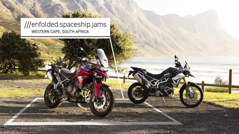Triumph using What3Words